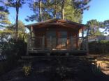 Ecolodgetent voor 5 personen - 2 slaapkamers – 19m² + overdekt terras van 6m².